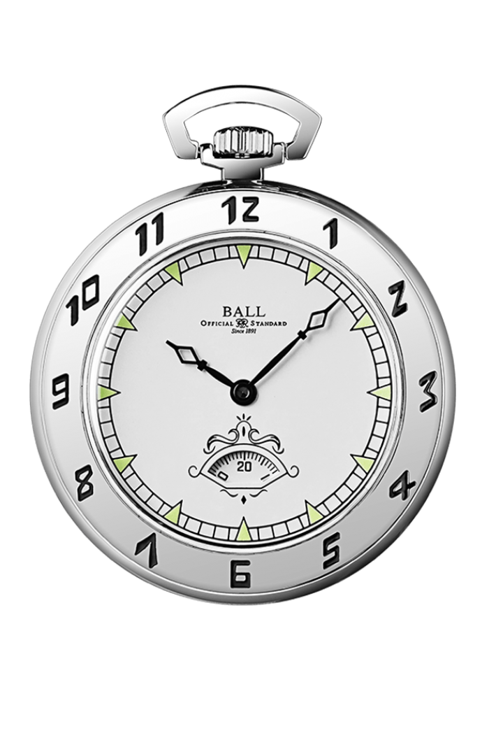 Trainmaster Secometer Pocket Watch (45mm)